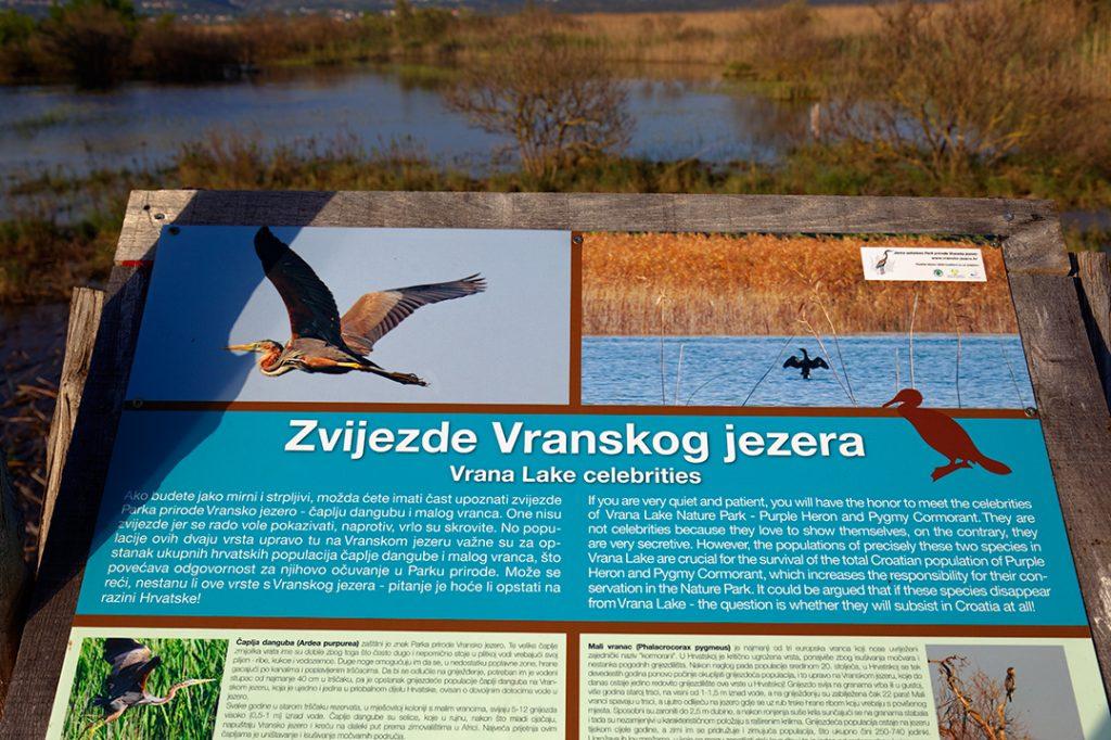 vransko jezero, dalmacija, vrana, šetnica, poučna staza